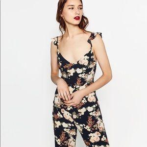 Zara Floral Jumpsuit